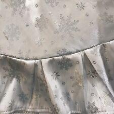 Christmas Tree Skirt Silver Snowflake Design Ruffled Edge Martha Stewart 2002