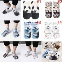 Fashion Unisex Cute Cartoon 3D Animal Print Panda Cotton Low Cut Ankle Socks New