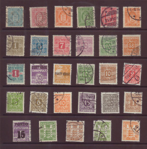 Denmark, a selection of stamps from back of book, FU,