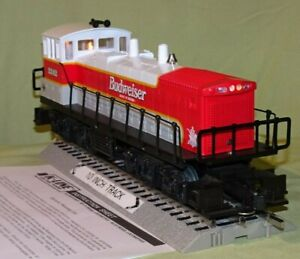 K-Line 2242 Budweiser Bud Dual Motor Pwr'd MP-15 (O/027) wks w/ Lionel 1996
