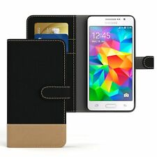Tasche f. Samsung Galaxy Grand Prime Jeans Cover Handy Schutzhülle Case Schwarz