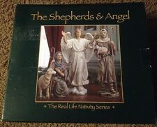 Nativity Shepards and Angel for Three Kings Gifts 10 inch Set Excellent