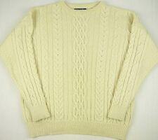 Woolovers Mens XXL 2XL 100% British Wool Washable Chunky Fisherman Sweater