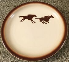 Horse Racing Silhouette Plate Wallace