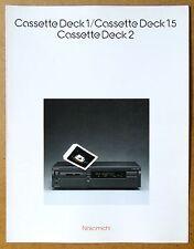 NAKAMICHI Cassette Deck 1, 1.5, 2 ~ Vintage Audio Brochure ~ Original ~ in Engl