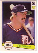 1982 Donruss DETROIT TIGERS Team Set (27) ALAN TRAMMELL / KIRK GIBSON +