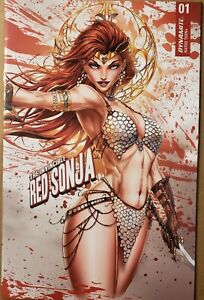 Invincible Red Sonja 1 Jamie Tyndall Lim to 200 Wrap Cover Dynamite Comics