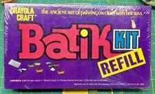 Crayola Craft Batik Kit Refill Vintage Sealed In Organizer Box Kit No. 5050