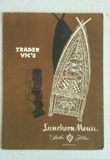 Vintage World Famous Trader Vic's Restaurant Menu Washington, DC Tiki Hilton