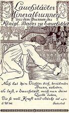 Lauchstädter Mineralbrunnen d. Königl.Bades Historische Reklame von 1907