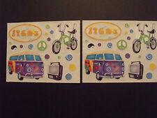 """Creative Memories  Volkswagon - 1960's VW Hippie Van and More - 4""""x5"""""""