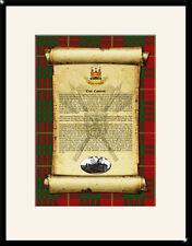 CLAN CAMERON - Clan History, Tartan, Crest, Castle & Motto MOUNTED PRESENTATION
