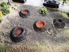 HO Roco Minitank Parts Set of 4 Bomb/Shell Craters #DP34