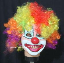 Halloween Rainbow Hair Circus Clown Juggler Mask H58