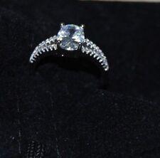 Women White Diamonique 009 B Wedding Ring