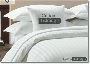 800 1000 1200TC 100% Egyptian Cotton Hotel Collection Super White in Striped