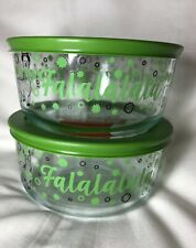2019 Christmas Holiday Pyrex Storage Bowl FALALA LLAMA  4 Cup LIMITED EDITION
