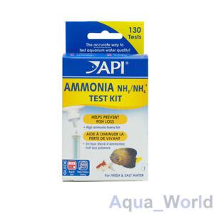 API Ammonia Liquid Test Kit Aquarium Fish Tank Freshwater Saltwater - 130 Tests