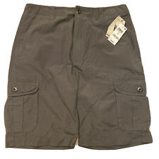 NEW UNIVIBE GUN METAL GRAY CARGO SHORTS MENS 34 LIGHTWEIGHT COTTON NYLON BLEND