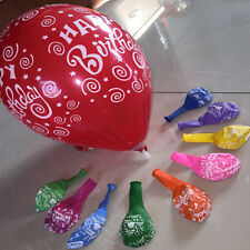 50pcs Printed Colorful Latex Ballons 12'' Wedding Birthday Party Decor Balloon
