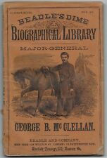 BEADLE'S DIME BIOGRAPHICAL LIBRARY # 12 CIVIL WAR DIME NOVEL STORY PAPER