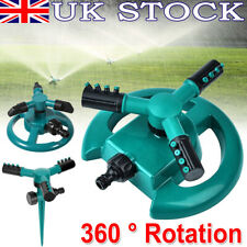 360° Rotating Garden Sprinkler Lawn Automatic Watering Irrigation 3-Arms System
