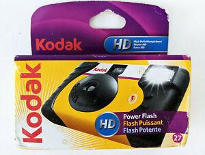 New Unopened Kodak Power Flash Disposable Camera 27 Exposures Expired 08-2020