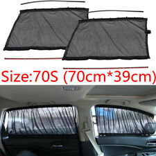 2xUniversal 70x39cm Car Side Window Curtains Sun Shade UV Protection Accessories