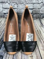 JEFFREY CAMPBELL 'Wrapped' Womens 8.5 Tan Patent Leathert Ballet Flats
