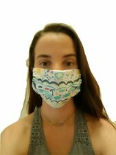 """New listing Child Reusable Face Mask """"The Beach"""" Fun Kids Friendly Design Soft Double Fabric"""