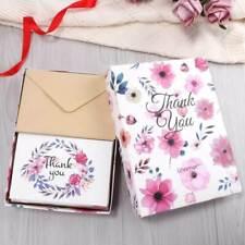 48PCSx Thank You Cards with Envelopes & Stickers Romantic Floral & Leaf VIC AU