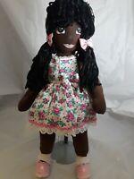 "Cloth Handmade Doll From Brazil 21"" Tall"