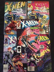 Uncanny X-Men Lot #s 201, 248, 268 X-MEN (1991) #s 1 DELUXE, 1/A  COMIC LOT