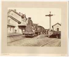 A. Lachambre, France, Digoin, train en gare Vintage print, Lachambre, Decize, Ni