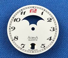 ADINA Watch Dial Part -White- 26.5mm -Quartz- Swiss Made - Moon Phase- #711