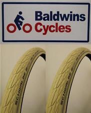 PAIR 700 x 35c SCHWALBE DELTA CRUISER CREAM Bike / Cyles Tyres (37-622)