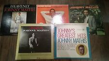 Lot Of 5 Johnny Mathis  LP Vinyl Records . see pics and description