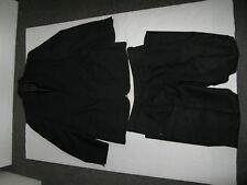 """U BROOK TAVERNER Costume Noir Veste Pantalon Laine Mix poitrine taille 44"""" régulier 38"""""""