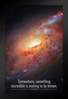 ProFrames Something Incredible Waiting Known Carl Sagan Framed Poster 12x18