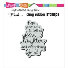Stampendous Cling Stamp - Love Laughter