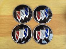 4PCS 65MM BUICK  Wheel Center Hub Caps Emblem Black Badge Decals Stickers