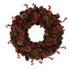 Teters  Brown  Pinecone and Berry Wreath  20 in. Dia.