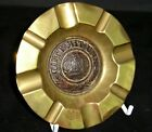 WW-1 Trench Art Brass Ash-tray Featuring an Imperial German Belt Buckle Centre
