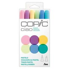 Copic Ciao Twin Tip Art Markers Set of 6 Colours - Pastels