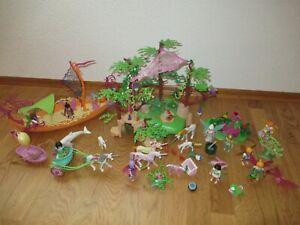 Playmobil Fairies - Magischer Feenwald 9132 und Feenschiff 9133 + Zubehör