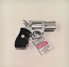 Slick Revolver Silver Gun Lighter, Metal, Refillable Butane