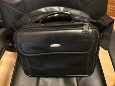 """Belkin Laptop Computer Messenger Bag Shoulder Black Leather Briefcase 15"""""""
