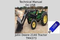 John Deere 2140 Tractor Technical Manual TM4373 USB Drive