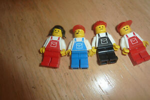 4 LEGO Classic Town City Minifigure  Overalls Mechanic