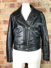 Harley Davidson Women's Black Leather Motorcycle Jacket with Quilted Liner